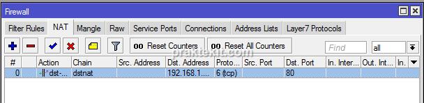 cara pengaturan port forwarding di mikrotik